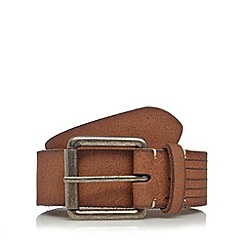 Mantaray - Tan leather pin buckle belt