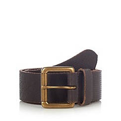 Mantaray - Brown embossed leather belt