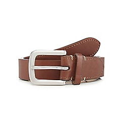 J by Jasper Conran - Big and tall designer tan leather belt