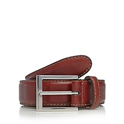 Hammond & Co. by Patrick Grant - Designer brown leather pin buckle belt