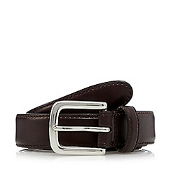 Hammond & Co. by Patrick Grant - Designer dark brown bevel edge leather belt