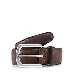 J by Jasper Conran - Big and tall designer brown leather pin buckle belt