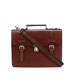 Hammond & Co. by Patrick Grant - Designer brown leather clasp briefcase
