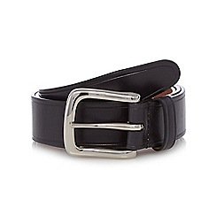 Hammond & Co. by Patrick Grant - Big and tall designer black leather buckle belt