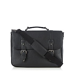 Jeff Banks - Designer black matte satchel bag