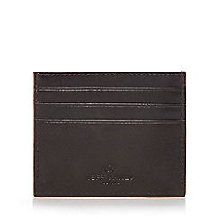 Jeff Banks - Designer chocolate orange edge leather credit card holder