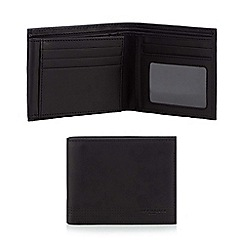 Jeff Banks - Designer black leather perforated wallet