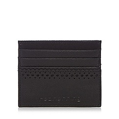 Red Herring - Black leather card holder