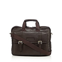 RJR.John Rocha - Designer dark brown soft leather business bag