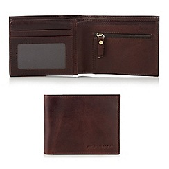 RJR.John Rocha - Designer brown leather coin pocket wallet