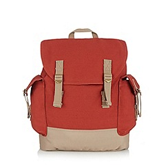 Mantaray - Orange canvas backpack