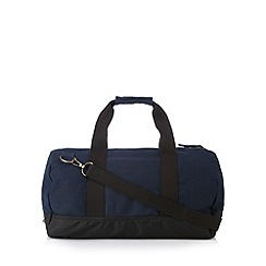 Mantaray - Navy canvas barrel holdall bag