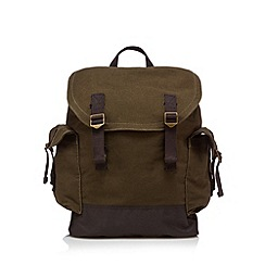 Mantaray - Khaki canvas backpack