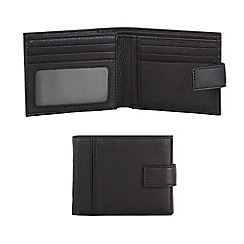 RJR.John Rocha - Designer black cut and sew leather tab wallet