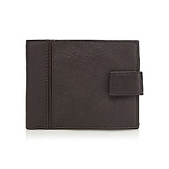 RJR.John Rocha - Brown cut and sew leather tab wallet in a gift box