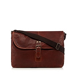 RJR.John Rocha - Designer brown leather washed despatch bag