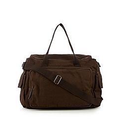 RJR.John Rocha - Designer khaki twill weekender bag