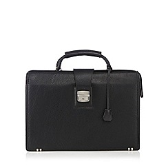 Hammond & Co. by Patrick Grant - Designer black leather briefcase