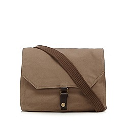 RJR.John Rocha - Designer natural leather mix canvas messenger bag