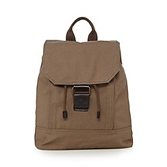 RJR.John Rocha - Designer natural leather mix canvas backpack