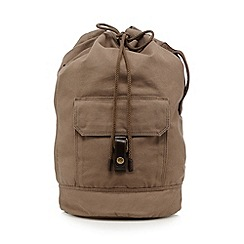 RJR.John Rocha - Designer natural leather mix canvas duffle bag