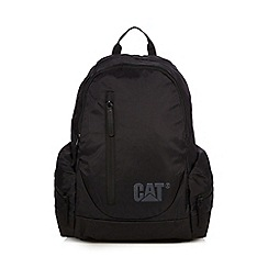 Caterpillar - Black patent logo backpack