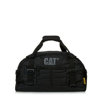 Caterpillar Black zip logo holdall bag - . -