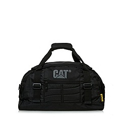 Caterpillar - Black zip logo holdall bag