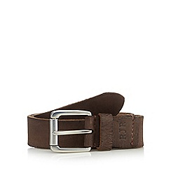 RJR.John Rocha - Designer brown leather roller buckle belt