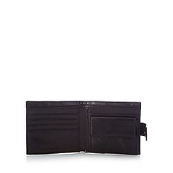 RJR.John Rocha - Designer black leather tab wallet