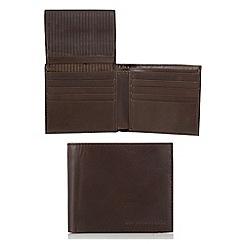RJR.John Rocha - Designer brown L shaped tab leather wallet