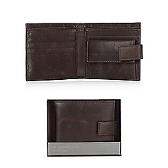 RJR.John Rocha - Designer brown leather tab wallet