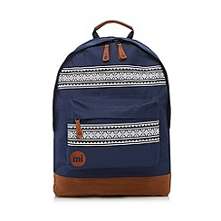 Mi-Pac - Navy fairisle zip pocket backpack