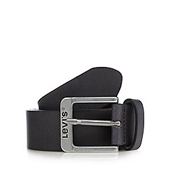 Levi's - Black leather keeper belt