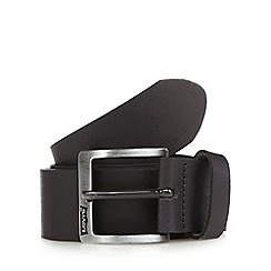 Levi's - Black leather logo belt
