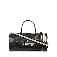 Dunlop - Black vintage inspired holdall bag