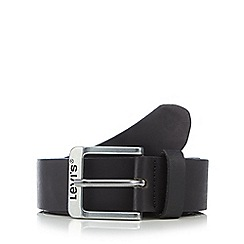 Levi's - Dark brown leather pin buckle belt