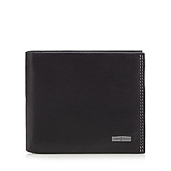 J by Jasper Conran - Black logo leather wallet in a gift box