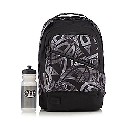 Animal - Black graffiti print backpack