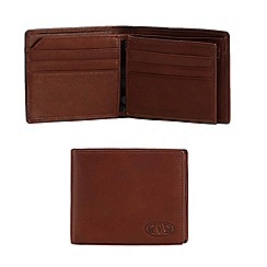 Animal - Brown leather debossed wallet