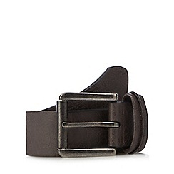 Mantaray - Brown pinched keeper leather belt
