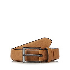 Red Herring - Brown leather pin buckle belt
