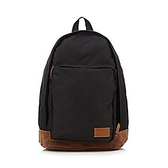 Red Herring - Black front pocket backpack