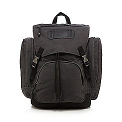 RJR.John Rocha - Grey coated cotton backpack