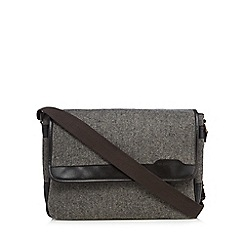 RJR.John Rocha - Grey herringbone wool-blend despatch bag