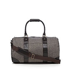 RJR.John Rocha - Brown herringbone tweed weekend bag