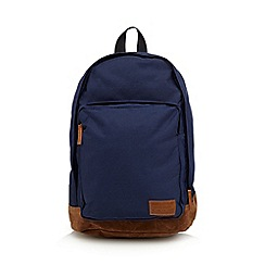 Red Herring - Navy front pocket backpack