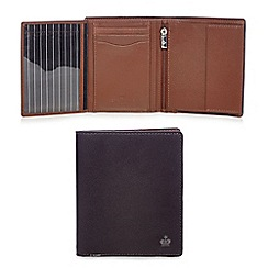 Jeff Banks - Brown two tone leather wallet