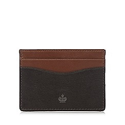 Jeff Banks - Brown two tone leather card wallet