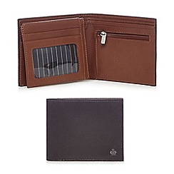 Jeff Banks - Brown two tone leather flip up wallet